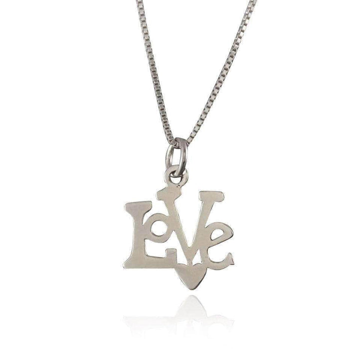 "Sterling Silver ""Love"" Pendant"