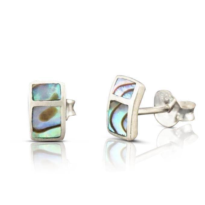 Silver shell Abalone Earrings