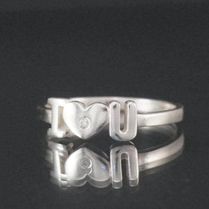 "Silver rings - Sterling Silver ""I LOVE YOU"" CZ Ring"