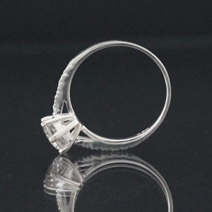 Silver Ring-Sterling Silver single CZ Ring