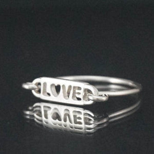 "Silver rings - Sterling Silver ""LOVE"" Message Ring"