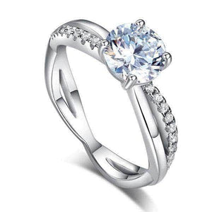 Silver 1.25 Ct Created Diamond Ring