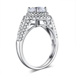 Sterling silver Double Halo 1.25 Ct Created Diamond Ring