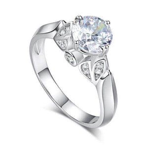 Silver Rings | Silver 1.25 Ct Created Diamond Ring