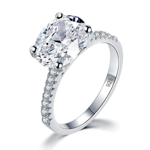 Sterling Silver 4 Ct Oval Cut Luxury Ring - mewe-jewelry.com