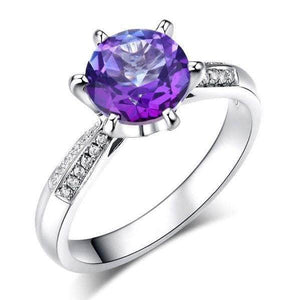 White Gold 2 Ct Purple Topaz 0.1 Ct