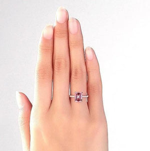 Gold rings | 14K Gold 2.8 Ct Pink