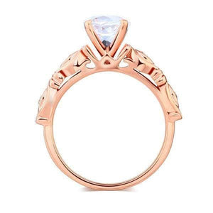 Gold Vintage Topaz Natural Diamond Ring