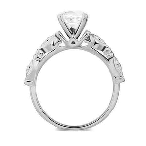 14K white Gold 1.2 Ct Topaz & Natural Diamonds Ring