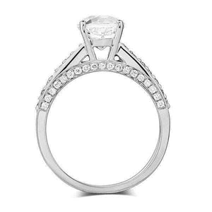 14K white Gold 1.2 Ct Topaz 0.42 Ct Diamonds Engagement Ring