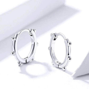 Silver Earrings-Small Stid Hoops