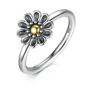 Silver Rings-Flower Daisy Finger Ring (8819925010)