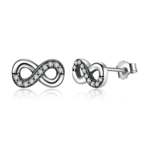 Earrings | Sterling silver infinity studs (7838822409)