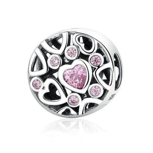 Pink Multi-Heart Charm