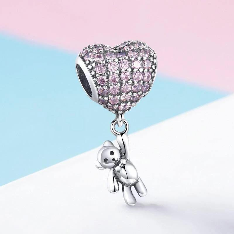 Silver charms - Silver Bear and Balloon Charm
