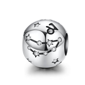 Silver Capricorn Star Sign Charm