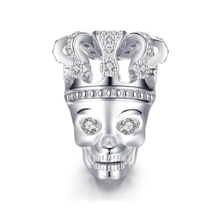 Skull with Crown Charm