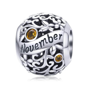 November -Birthstone Charms