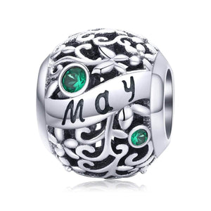 May -Birthstone Charms