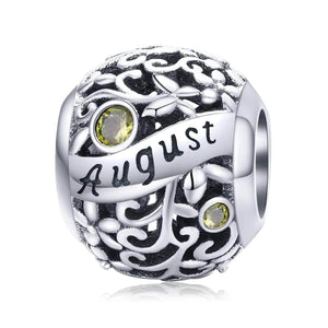 August -Birthstone Charms