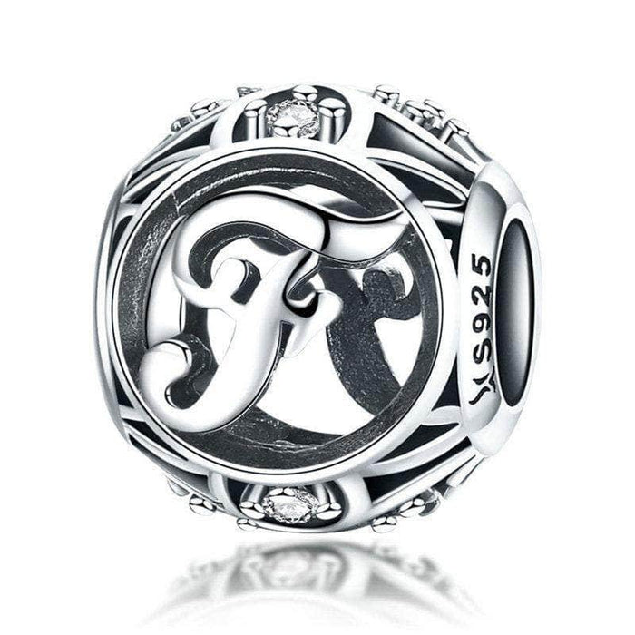 Silver Letter F Charm