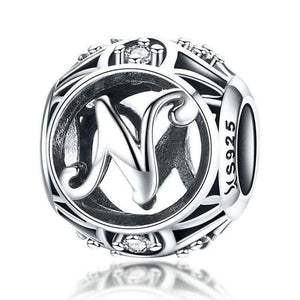 Silver Letter N Charm
