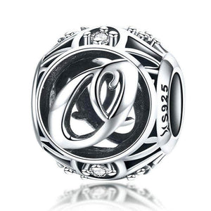 Silver Letter O Charm
