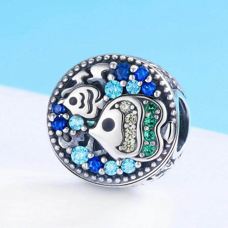 Silver Charms | Silver Underwater world Charm - mewe-jewelry.com