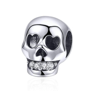Silver charms | Silver Skull Teeth Charm