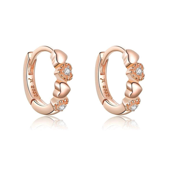 Gold Gem Hoop Earrings