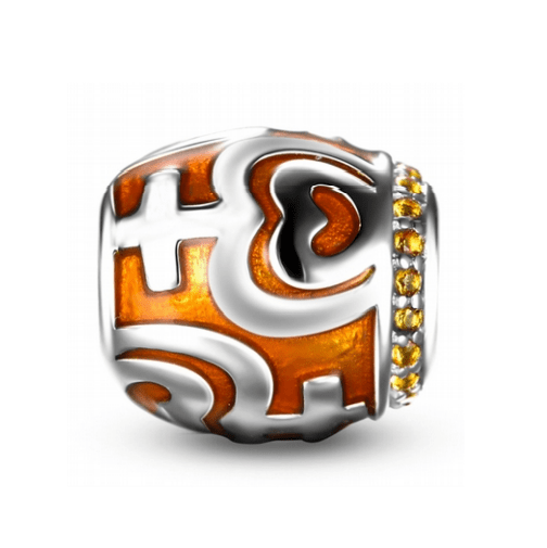Orange Tribal Charm