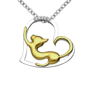 Silver & Gold Cat Necklace