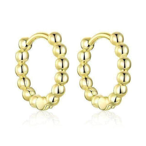 Small Ball Gold Hoops - MEWE-JEWELLERY