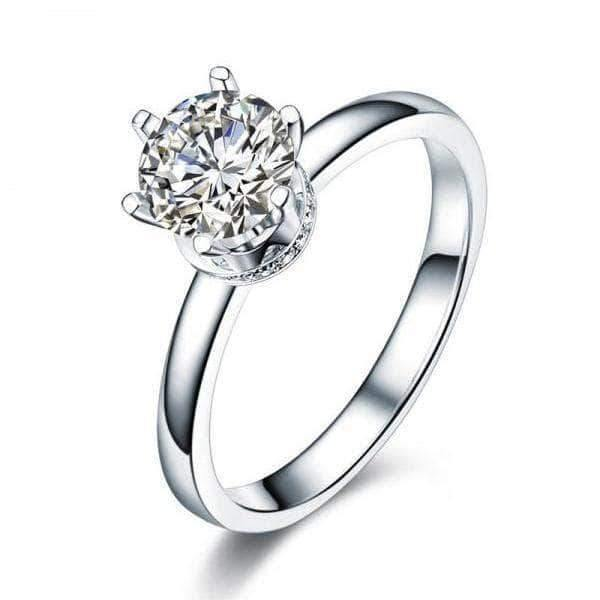 14K White Gold 1 Ct Moissanite Diamond 6