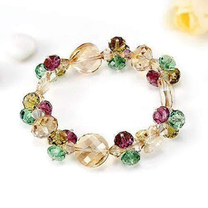 Bracelets | Austrian crystal Green & purple color stone Bracelet (160060538898)