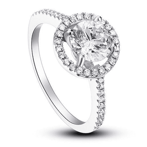 Silver Rings | Silver 1.25 Ct  Round Cut cubic zirconia Ring