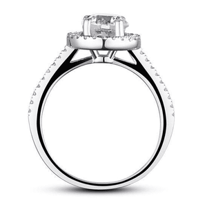 Silver Rings | Silver 1.25 Ct  Round Cut cubic zirconia Ring (10066267410)