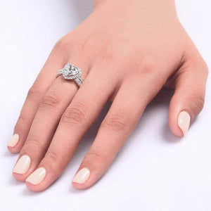 2 Ct Heart Cut Created Diamond Ring
