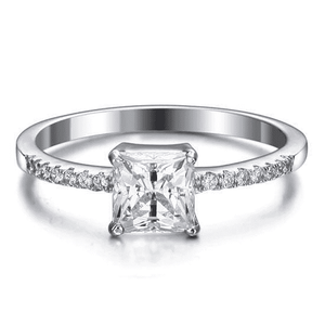 Silver Rings | Sterling Silver 2 Carat Engagement Ring (10346450322)