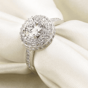 Silver Rings | Sterling silver 1 Ct Round Cut cubic zirconia Ring (10054580306)