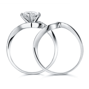 Silver Rings | Silver 1.25 Ct Princess Twist cubic zirconia Ring (10066203154)