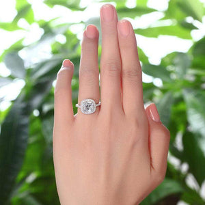 Silver Rings | Sterling Silver 3 Carat Cushion Cut Ring