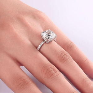 Sterling Silver Rings | 5 Ct Cushion Cut Ring