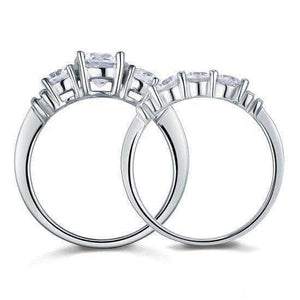 Silver Rings |  Sterling silver 2-Pc Solid Ring Set