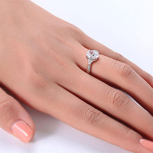 Silver Rings | Sterling silver Oval Cut Ring - mewe-jewelry.com