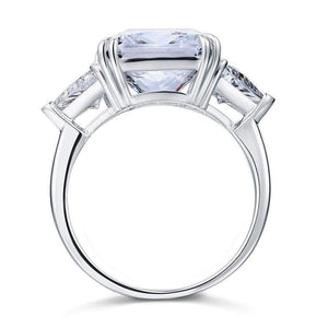 Silver Ring |  Sterling Silver 8 Carat Clear Stone Ring