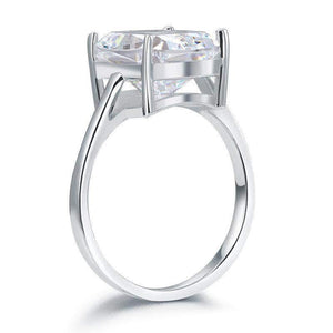 Silver Ring |  Sterling Silver 6 Carat Solitaire Ring