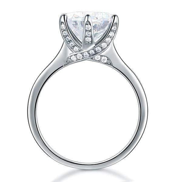 Silver 3 Ct Created Diamond Rings