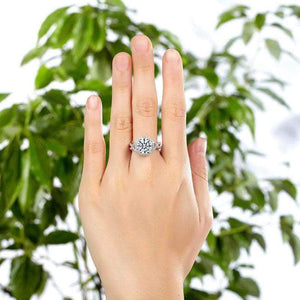 Silver Rings | Sterling Silver 3 Carat Fancy Clear stoned Ring