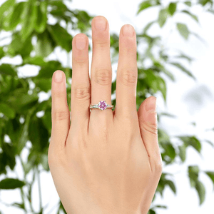 Silver Rings | Silver 2 Carat Fancy Pink Created Diamond Ring Rings Delivery time 10 days  (10349670482)